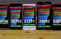 مقایسه بنچمارک گلکسی S5 و HTC M8 و Note 3 و LG G2