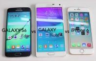 مقایسه سرعت iPhone 6 و Galaxy S6 Edge و Note 4