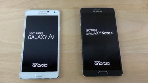 مقایسه سرعت بوت شدن Galaxy A7 و Galaxy Note 4