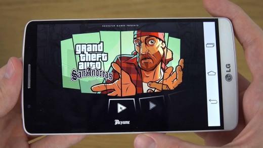 بررسی اجرای بازی GTA San Andreas روی LG G3