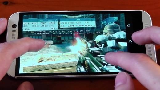بررسی تجربه بازی با گوشی HTC One M8