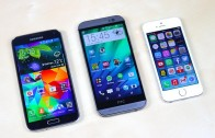مقایسه بنچمارک Galaxy S5 و HTC One M8 و iPhone5S (زبان آلمانی)