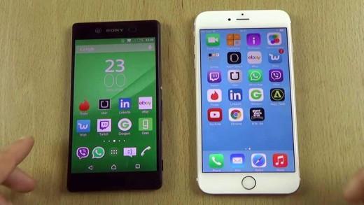 مقایسه سرعت و تست دوربین iPhone 6 Plus با Xperia Z3 Plus