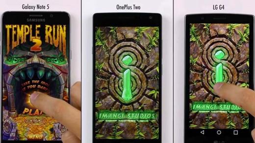 مقایسه سرعت Galaxy Note 5 ، LG G4 و One Plus 2