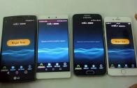 مقایسه سرعت اینترنت iPhone 6 و Huawei P8 و Galaxy S6 و LG G4