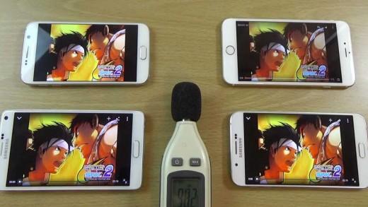 مقایسه اسپیکر گوشیهای گلکسی A8 و گلکسی S6 و Note 4 و آیفون ۶