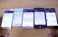 مقایسه بنچمارک گیک بنچ بر روی گلکسی نوت ۵ ، آیفون ۶ ، گلکسی S6 ، الجی G4 و گلکسی A8