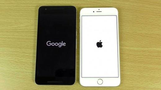 مقایسه سرعت آیفون ۶ اس با iOS 9.1 و هواوی نکسوس ۶P با اندروید ۶ مارشملو